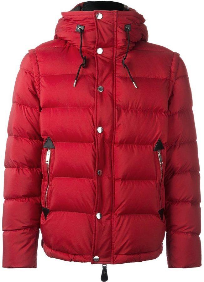 Мужская красная куртка-пуховик от Burberry   Где купить и с чем носить 2252d287714
