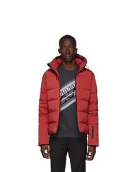 Мужская красная куртка-пуховик от Fendi