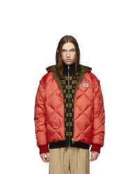 Мужская красная куртка-пуховик от Gucci
