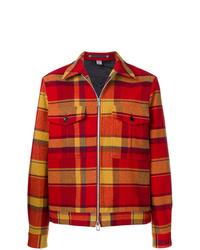 Мужская красная куртка-рубашка в шотландскую клетку от Ps By Paul Smith