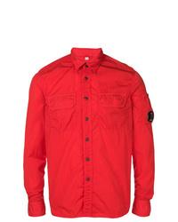 Красная куртка-рубашка