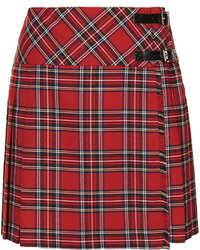 Красная мини-юбка в шотландскую клетку