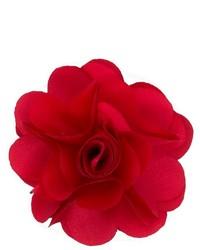 Красная мужская брошь с цветочным принтом