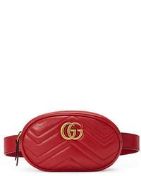 Красная поясная сумка