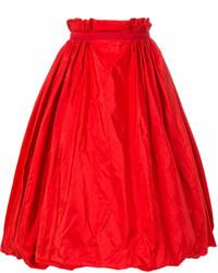 Красная пышная юбка от Alexander McQueen