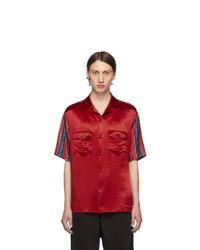 Мужская красная рубашка с коротким рукавом от Gucci