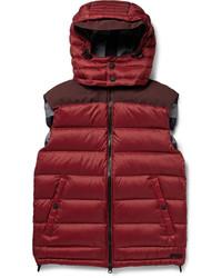 Мужская красная стеганая куртка без рукавов от Burberry