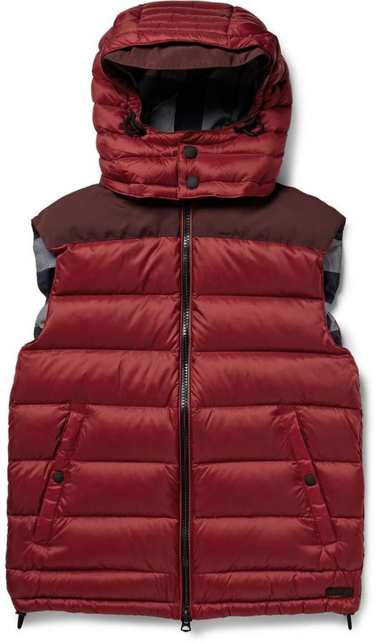 Мужская красная стеганая куртка без рукавов от Burberry   Где купить ... c18bcc3347d