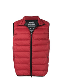 Мужская красная стеганая куртка без рукавов от ECOALF