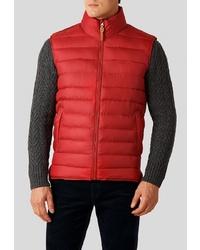 Мужская красная стеганая куртка без рукавов от FiNN FLARE