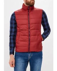 Мужская красная стеганая куртка без рукавов от Geox