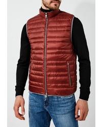 Мужская красная стеганая куртка без рукавов от Michael Kors
