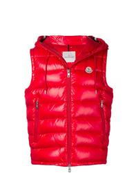 Мужская красная стеганая куртка без рукавов от Moncler