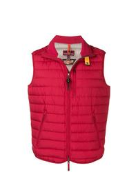 Мужская красная стеганая куртка без рукавов от Parajumpers