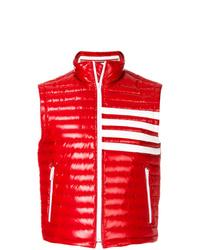 Мужская красная стеганая куртка без рукавов от Thom Browne