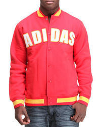 Мужская красная университетская куртка от adidas