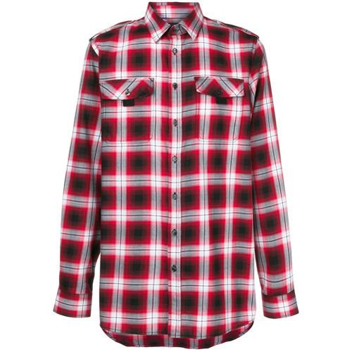 61e3081b1aa ... Мужская красная фланелевая рубашка с длинным рукавом в клетку от Diesel  Black Gold ...