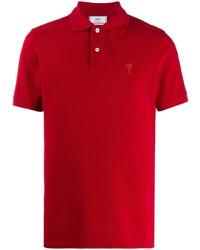 Мужская красная футболка-поло от Ami Paris