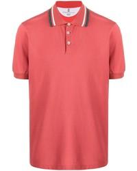Мужская красная футболка-поло от Brunello Cucinelli