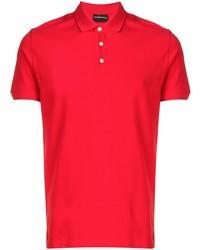 Мужская красная футболка-поло от Emporio Armani