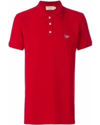 Мужская красная футболка-поло от MAISON KITSUNÉ