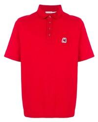 Мужская красная футболка-поло от Moncler