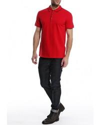 Мужская красная футболка-поло от Tom Farr