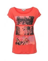 Женская красная футболка с круглым вырезом с принтом от Bruebeck