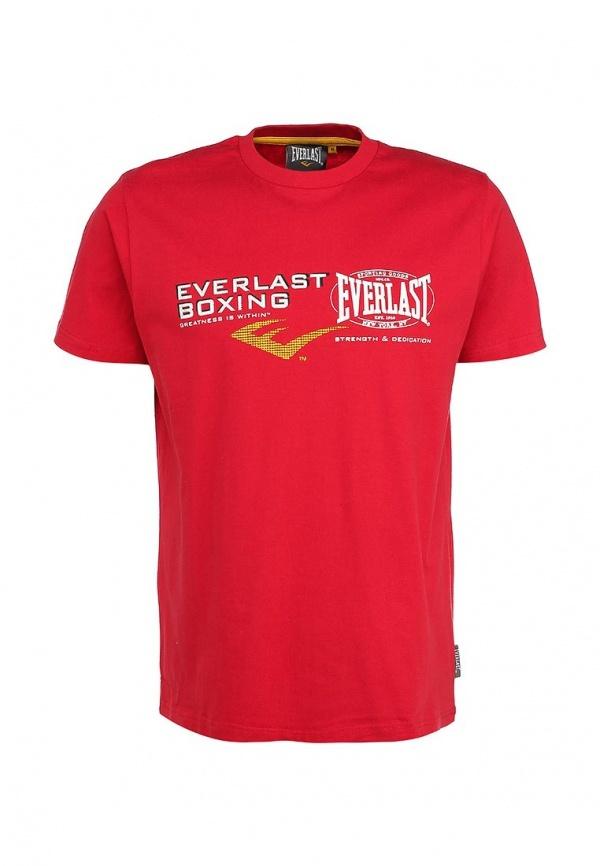 Мужская красная футболка с круглым вырезом с принтом от Everlast