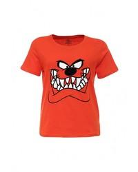 Женская красная футболка с круглым вырезом от Eleven Paris