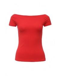 Женская красная футболка с круглым вырезом от SPRINGFIELD