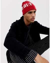 Мужская красная шапка с принтом от HUF