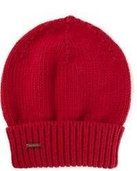 Женская красная шапка от Dsquared2