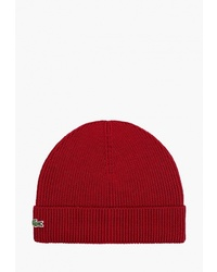 Мужская красная шапка от Lacoste
