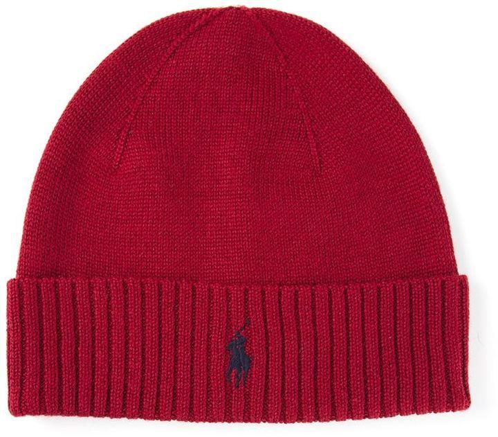 5f63aa5b1110 Мужская красная шапка от Polo Ralph Lauren