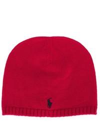 Детская красная шапка для мальчику от Ralph Lauren