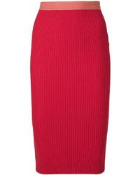 Красная юбка-карандаш от Fendi