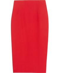 Красная юбка-миди от Alexander McQueen