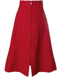 Красная юбка от Fendi
