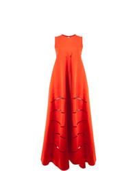 Женское красное вечернее платье с вырезом от Maison Rabih Kayrouz