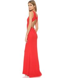 Женское красное вечернее платье с вырезом от Rachel Zoe