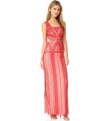 Женское красное вечернее платье с пайетками от Parker