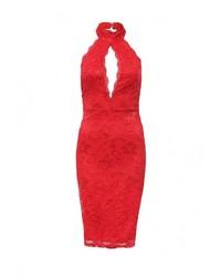 Женское красное вечернее платье от City Goddess