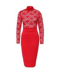 Женское красное вечернее платье от Edge Clothing