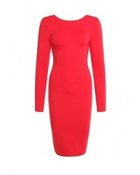 Женское красное вечернее платье от OLGA SKAZKINA