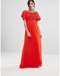 Женское красное кружевное вечернее платье от Traffic People