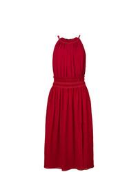 Красное льняное пляжное платье от Altuzarra