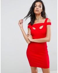 Женское красное облегающее платье от Asos