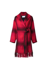 Красное пальто в клетку