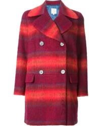Красное пальто в шотландскую клетку